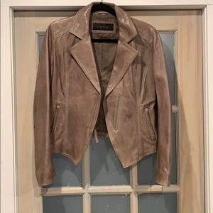 Elite Tahari lamb leather jacket